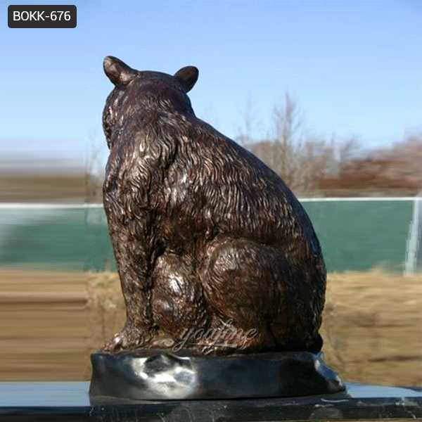 Casting Bronze Grizzly Bear Statue for sale