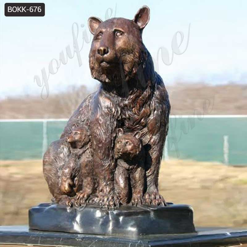 Casting Bronze Grizzly Bear Statues