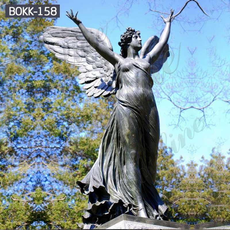 Casting Bronze Standing Angel Statue BOKK-158