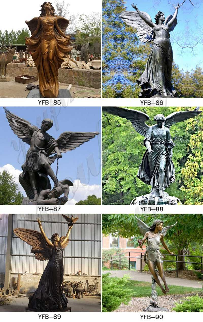 Casting Bronze Standing Angel Statues
