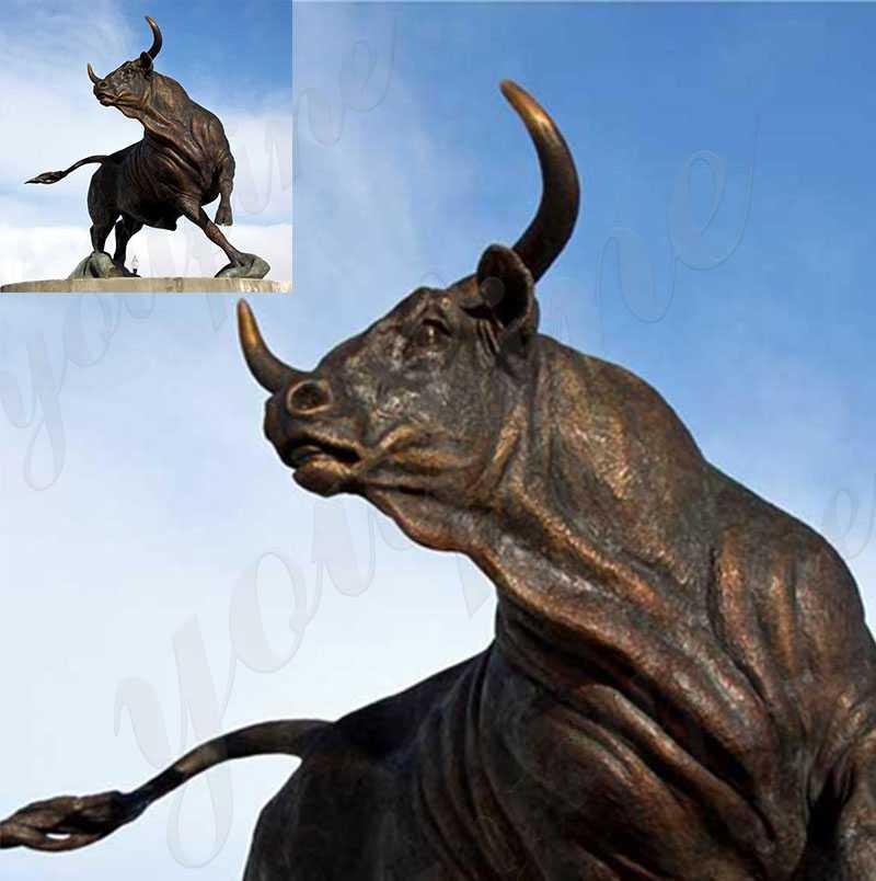 Casting Bronze Wildlife Bull Statues