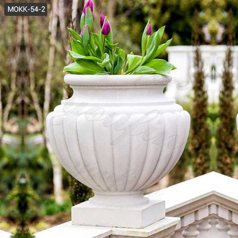 Customized Round Marble Planter Pots for sales