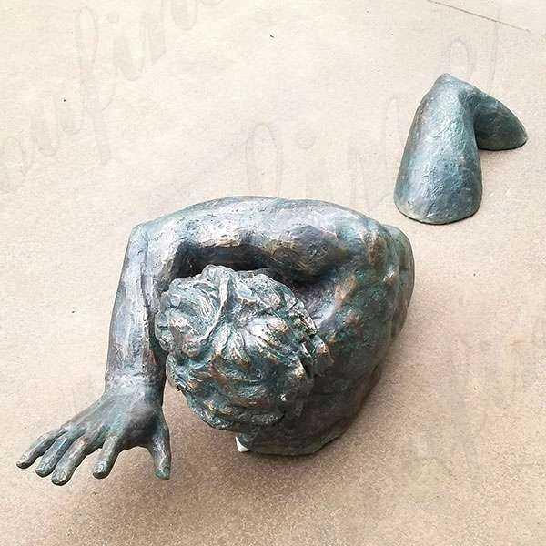Famous Wall Hanging Modern Matteo Pugliese Bronze Man Sculpture