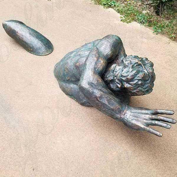 Famous Wall Hanging Modern Matteo Pugliese Bronze Man Sculptures