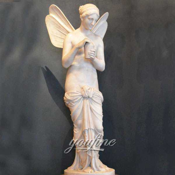 Bertel Thorvaldsen's Psyche Angel With Wings Marble Statue for Sale MOKK-320
