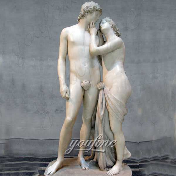 Decorative Famous Art Sculpture Venus and Adonis Marble Statue for sale MOKK-322
