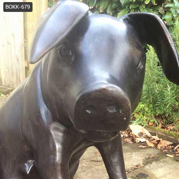 Fine Cast Solid Bronze Wild Pig Statues