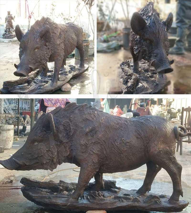 Garden Decoration Bronze Wild Boar Statue for Sale