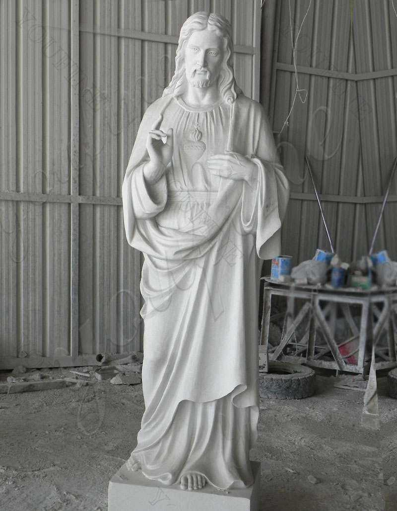 Garden Decoration Marble Jesus Sculpture for Sale