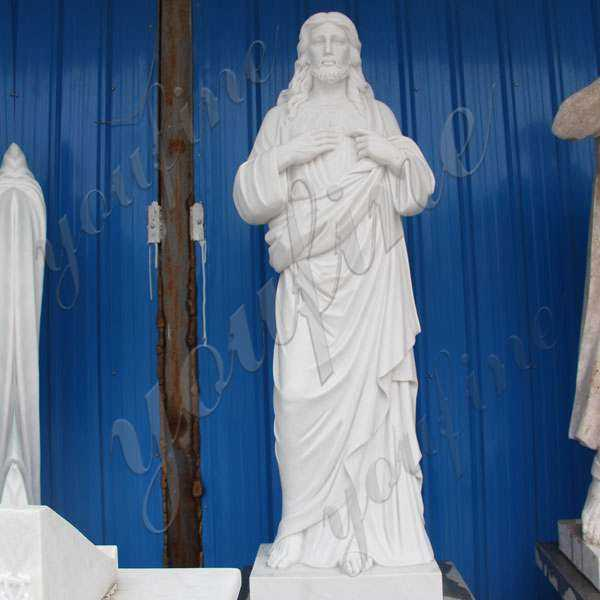 Garden Decoration Marble Jesus Sculpture for Sales