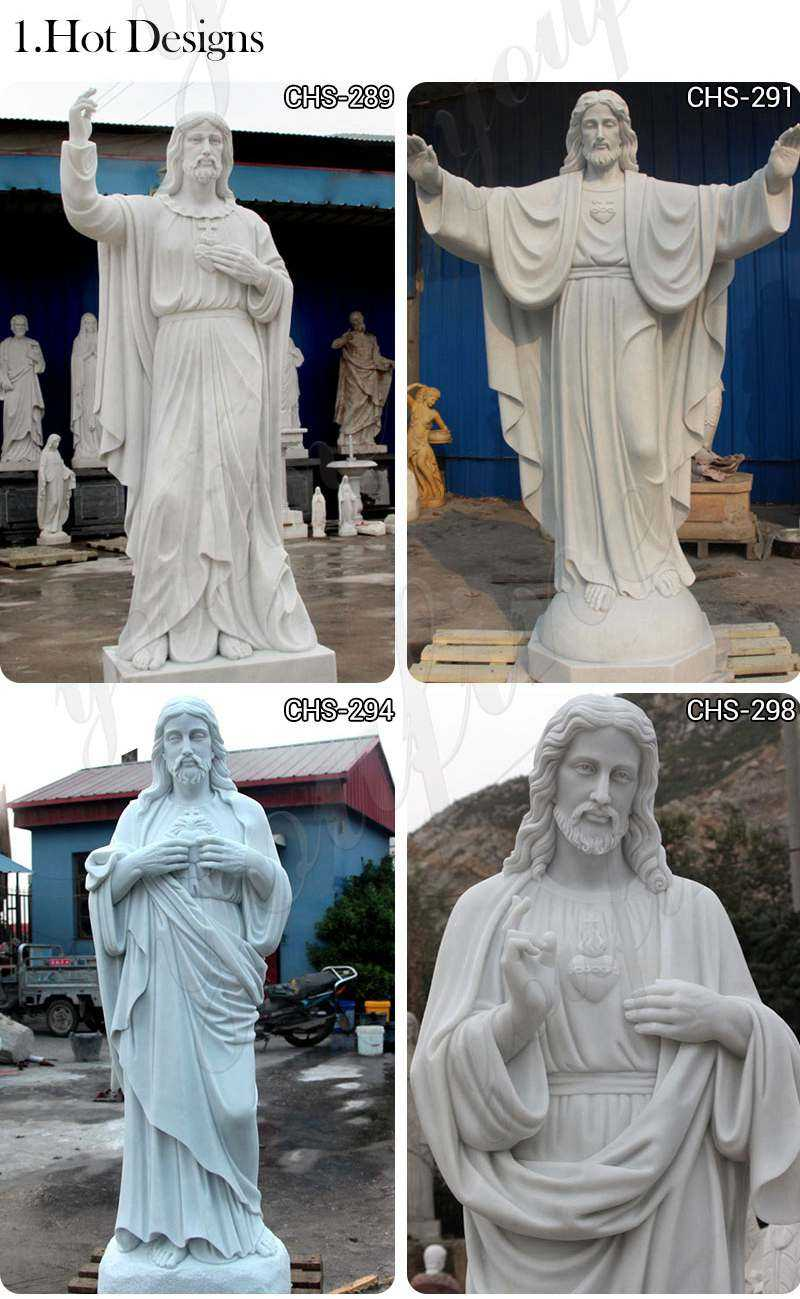 Garden Decoration Marble Jesus Sculptures for Sale