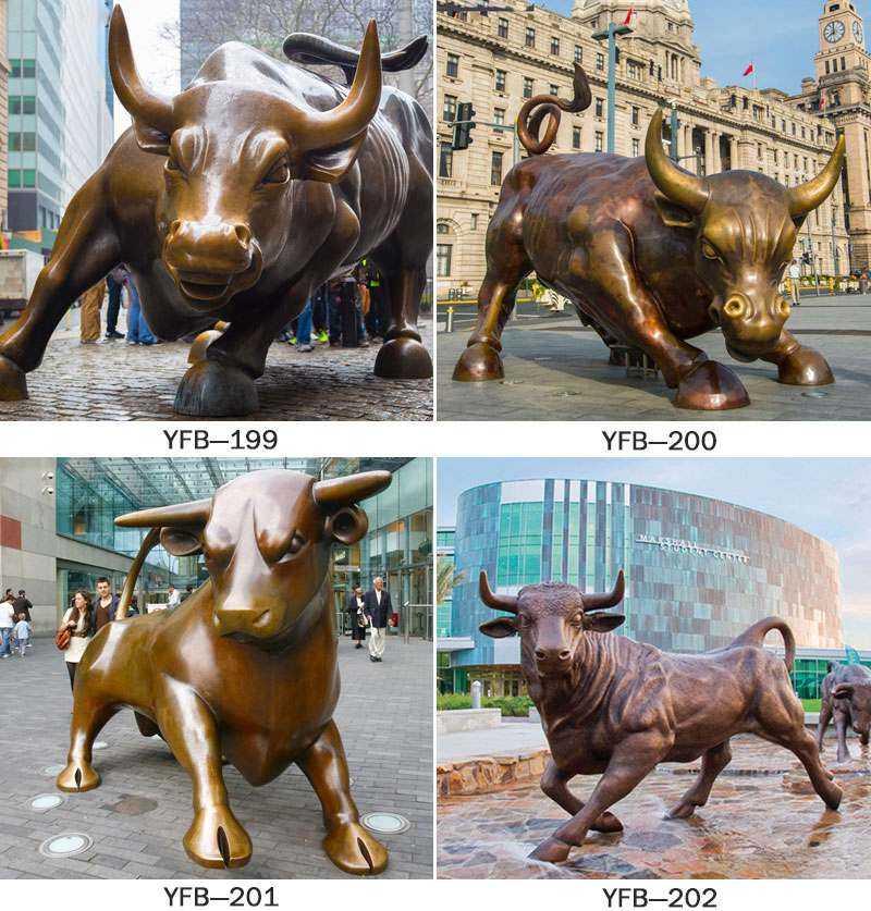 Garden Large Bronze Bull Statue Decoration_副本