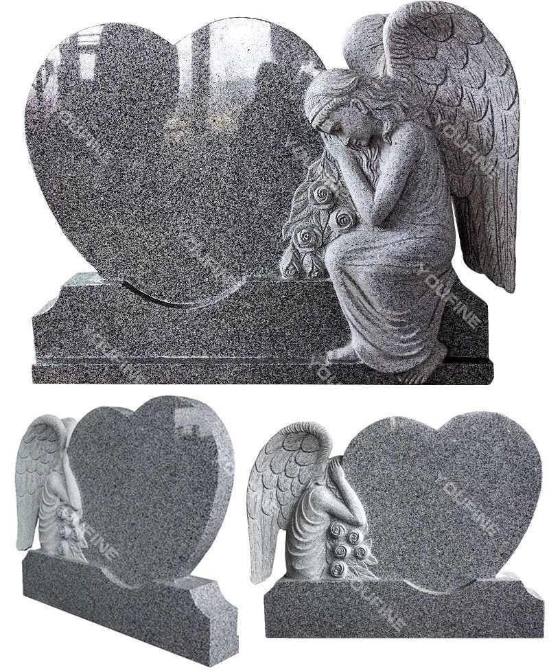 Granite Angel Marble Monument Statue on sale