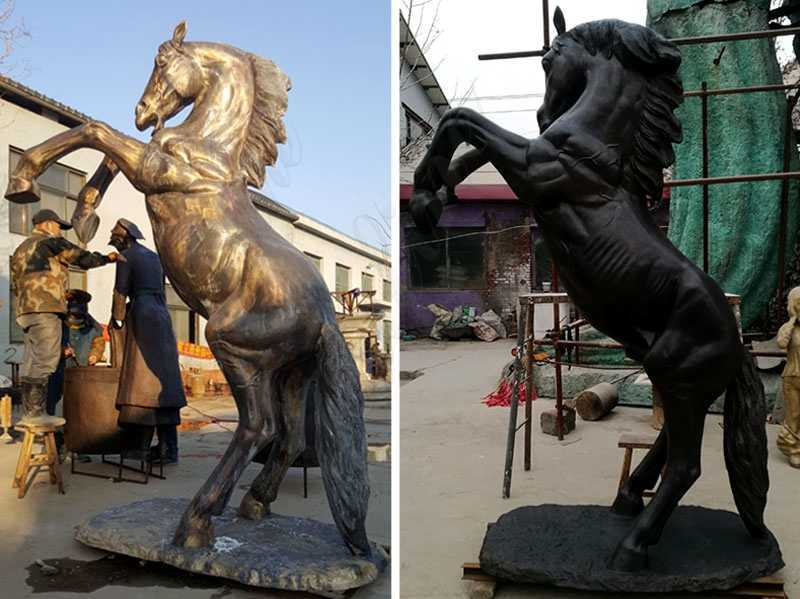Hand Made Bronze Standing Horse Statues for sale
