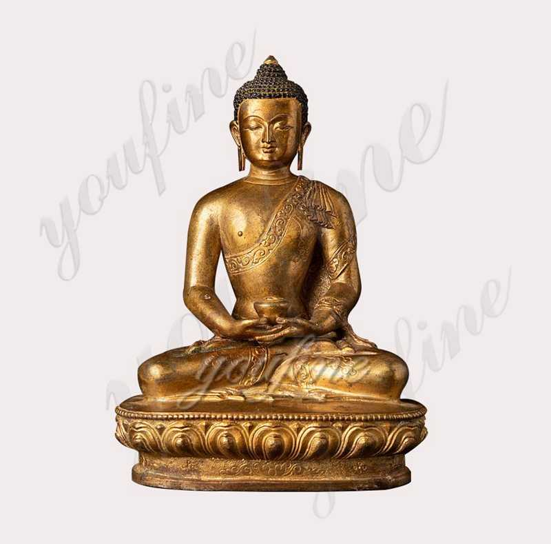 Hand Made Old Nepali Bronze Buddha Statue for sale