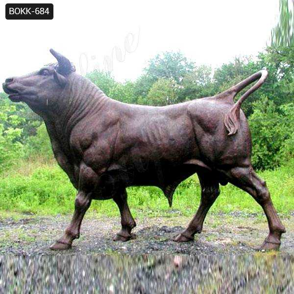 Hand Made Strong Outdoor Large Copper Bull Statue
