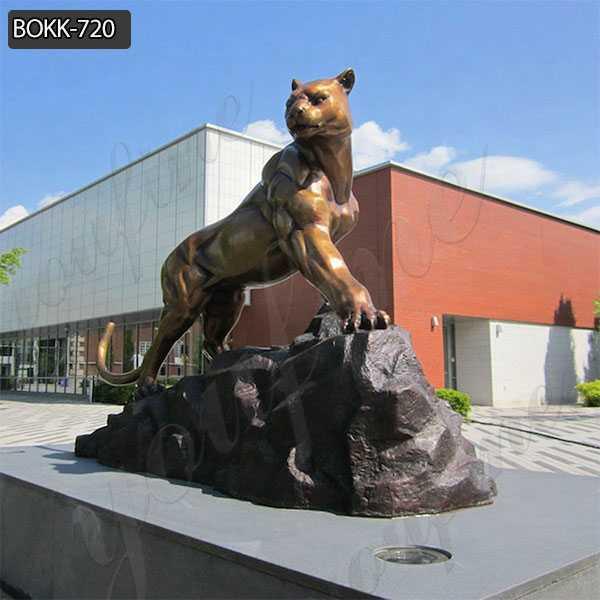 Hand Made Wildlife Outdoor Bronze Leopard Sculpture for Sale