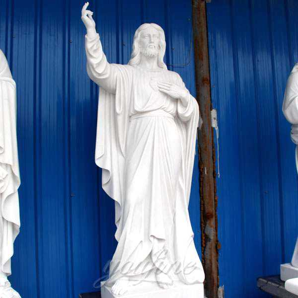High Quality Garden Decoration Marble Jesus Sculpture for Sale
