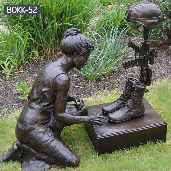 Kneeling Soldier Military Bronze Statue