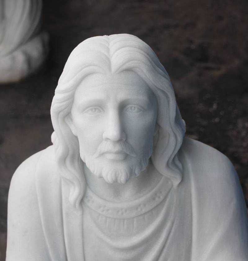 Kneeling in Prayer Jesus Statue Custom Made for Our Client