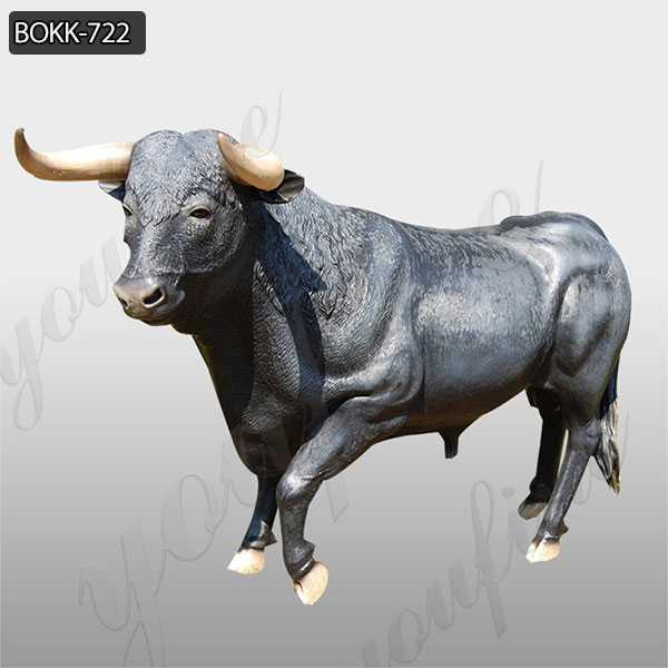 Antique Garden Large Bronze Bull Statue Decoration for Sale BOKK-722