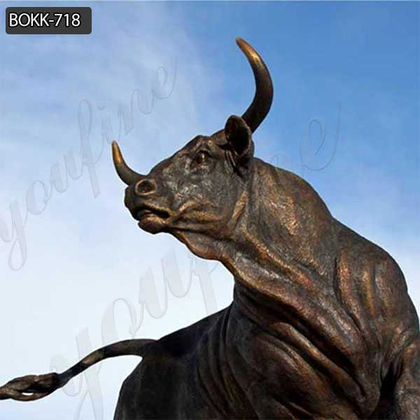 Large Outdoor Casting Bronze Wildlife Bull Statue