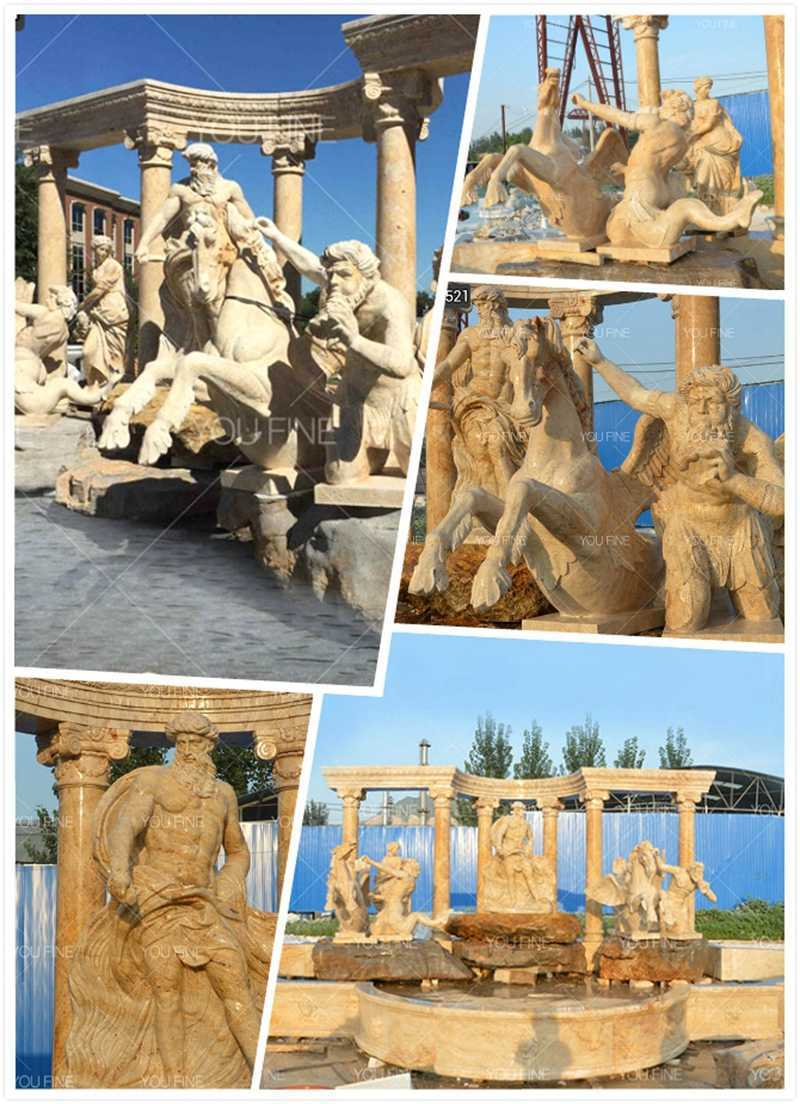 Large Outdoor Luxury Water Fountain with Figure Statues
