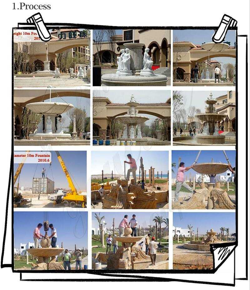 Large Outdoor Marble Fountains for sale