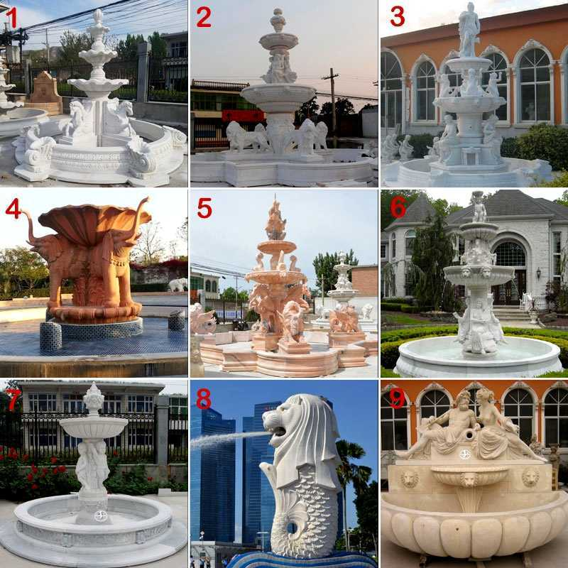 Large Outdoor Marble Fountains on sale