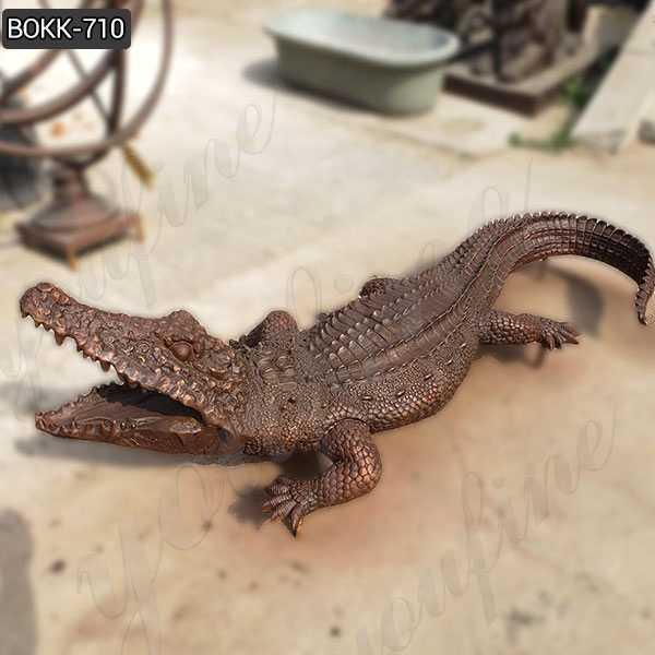 Life Size Bronze Garden Alligator Statue