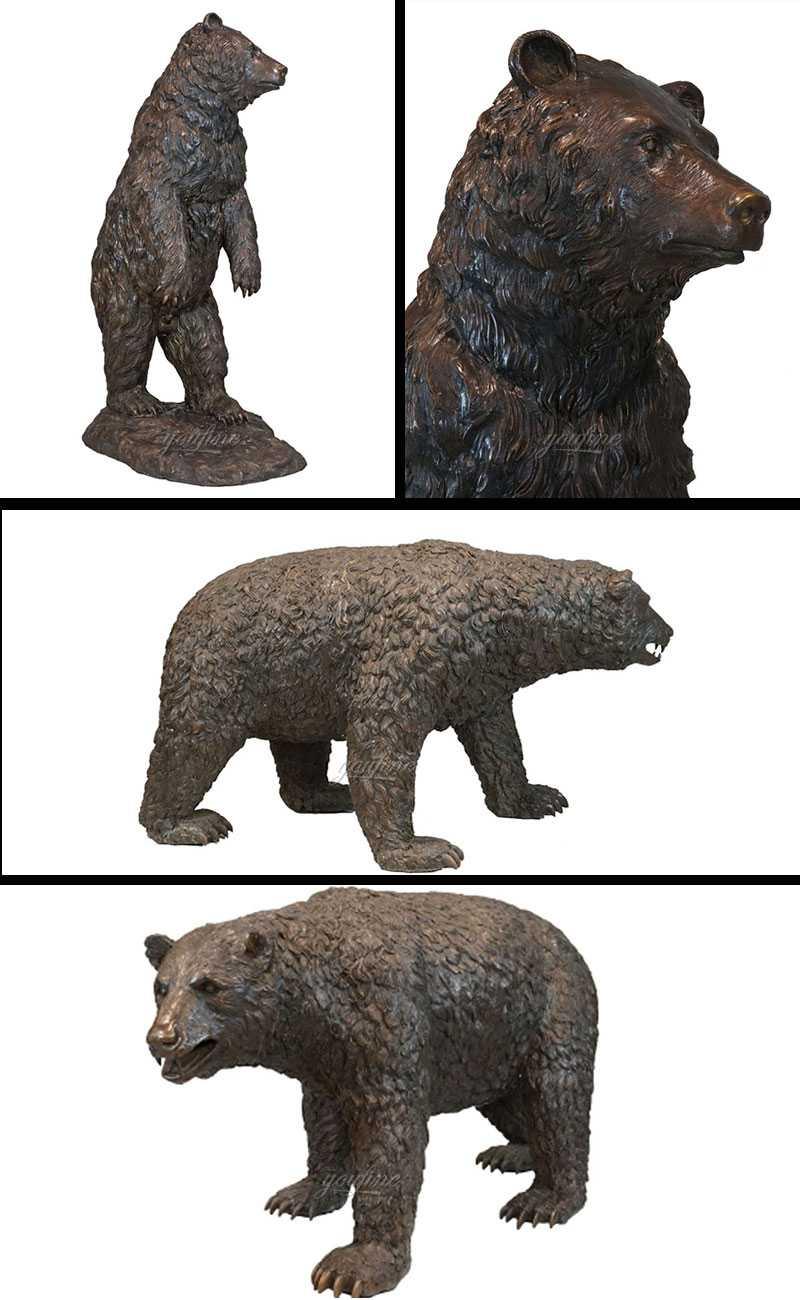 Life Size Wild Casting Bronze Bear Statue