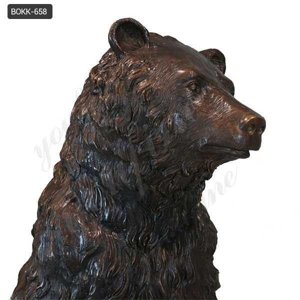 Life Size Wild Casting Bronze Standing Bear Statue