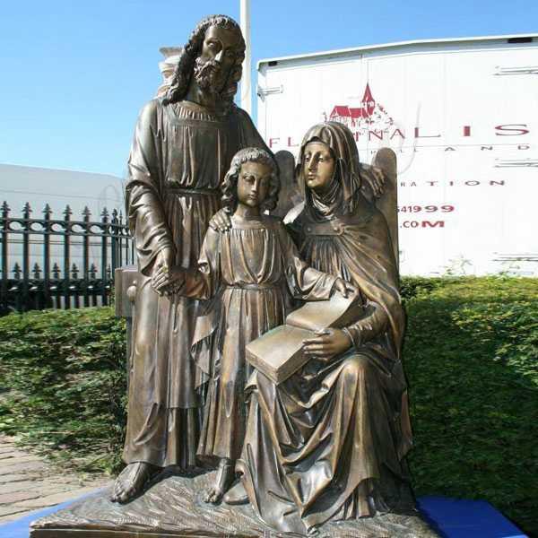 Mary Joseph and Jesus Bronze Statues