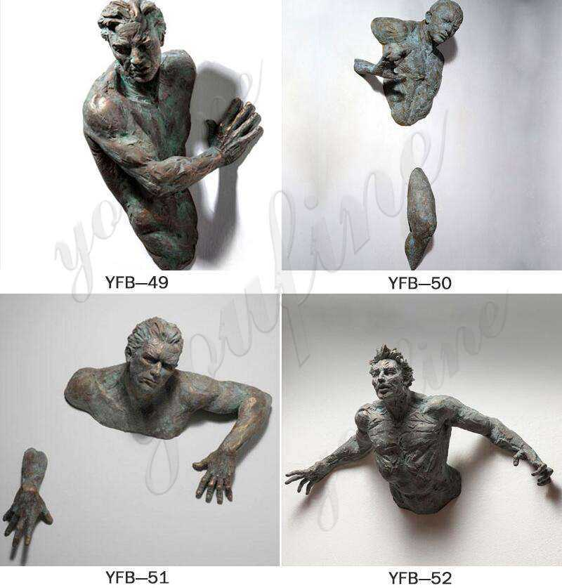 Modern Matteo Pugliese Bronze Man Sculpture for Sale