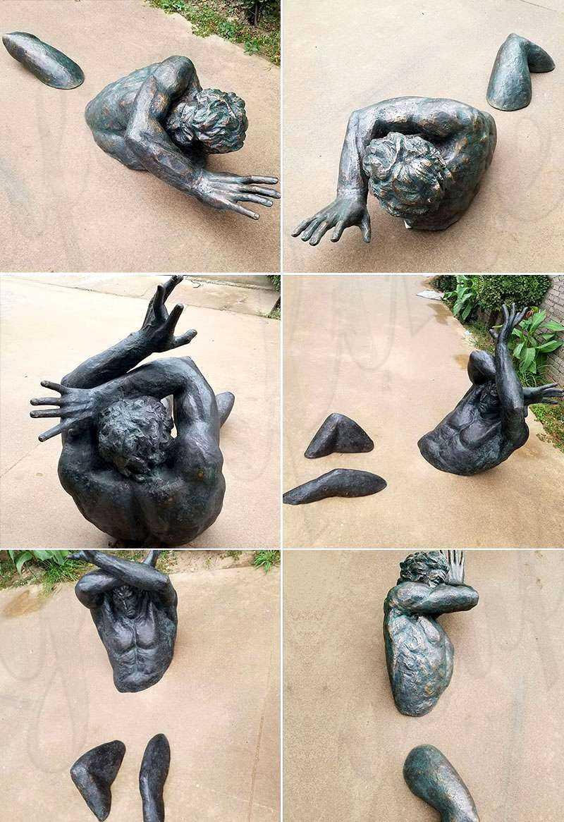 Modern Matteo Pugliese Bronze Man Sculpture