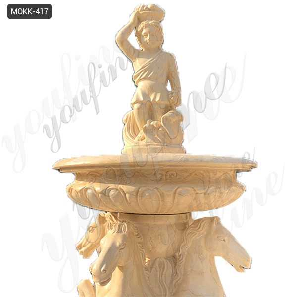 Natural Beige Stone Large Outdoor Fountain on sale