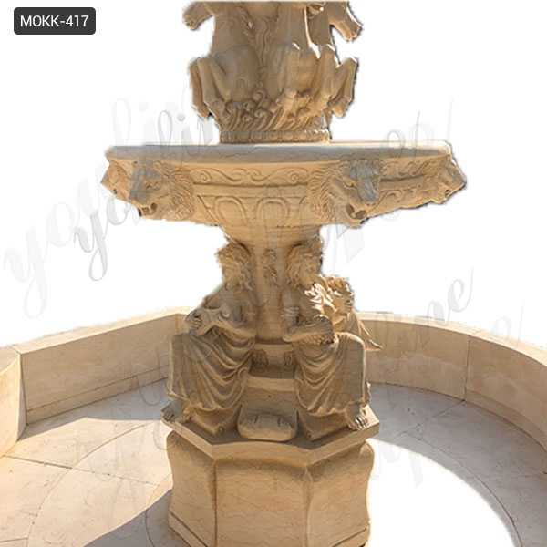 Natural Beige Stone Large Outdoor Fountains