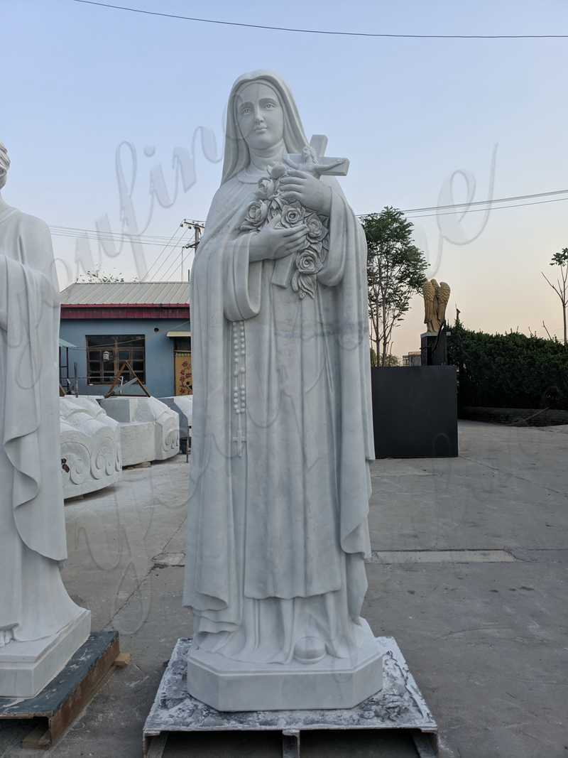 Our Lady of Mary White Marble Statue for sale