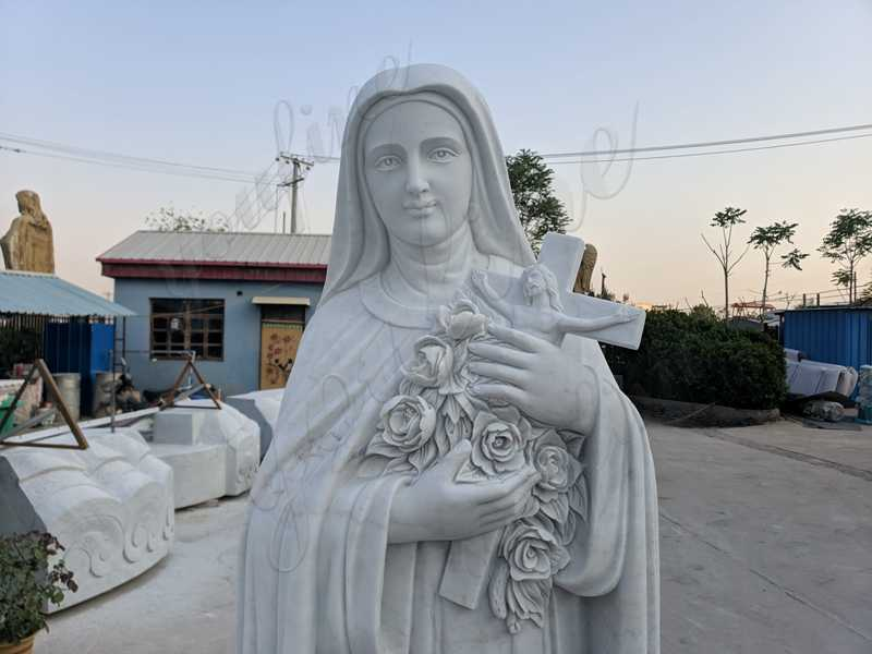 Our Lady of Mary White Marble Statue