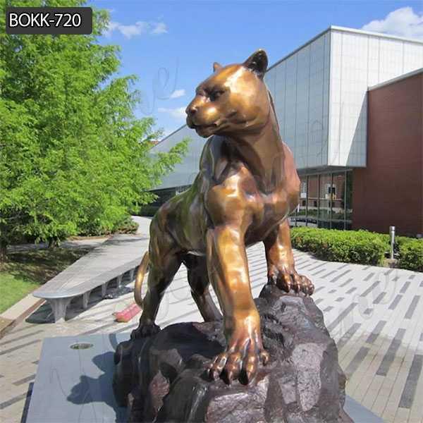 Outdoor Bronze Leopard Sculpture for Sale