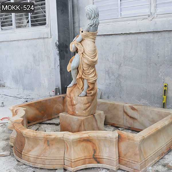 Outdoor Carving Female Statue Water Fountain