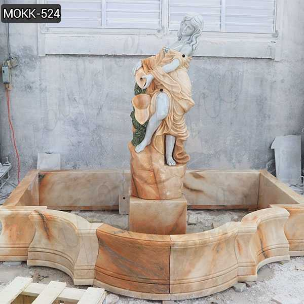 Outdoor Carving Female Statue Water Fountains Natural Stone Fountain Design for Sale MOKK-524
