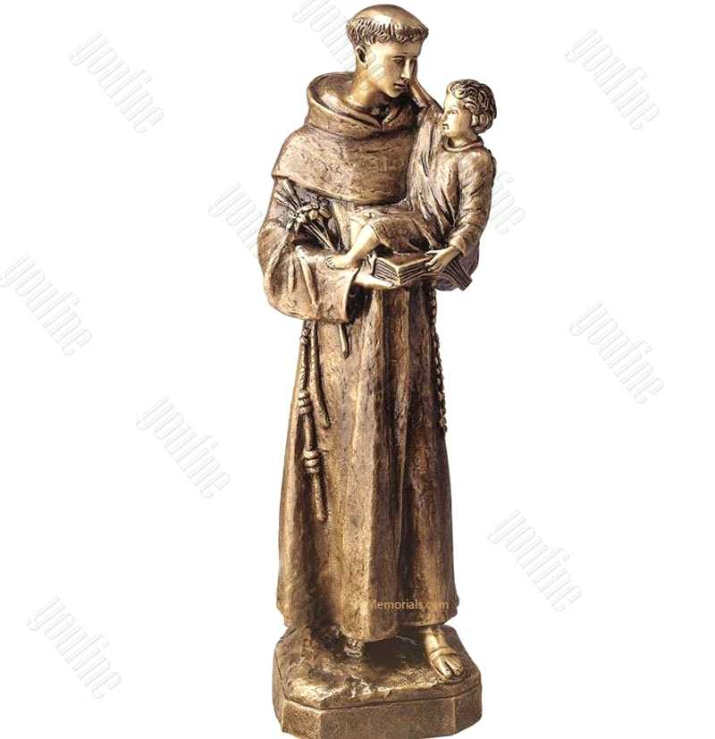 St Anthony with Baby Jesus Statue