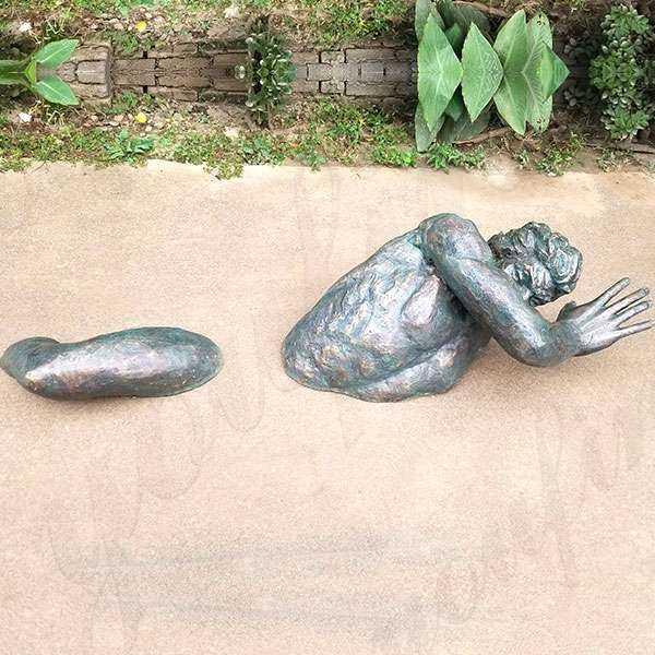 Wall Hanging Modern Matteo Pugliese Bronze Man Sculpture