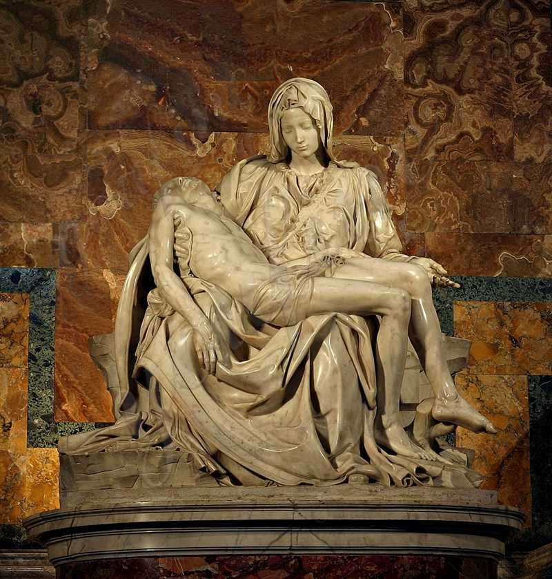 What is the significance of the Pieta by Michelangelo
