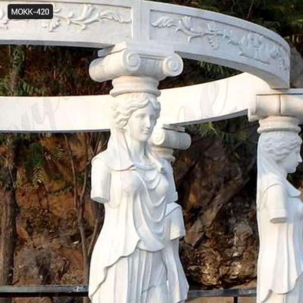 White Marble Lady Figure Gazebo on sale