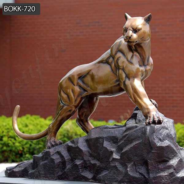Hand Made Wildlife Outdoor Bronze Leopard Sculpture for Sale BOKK-720