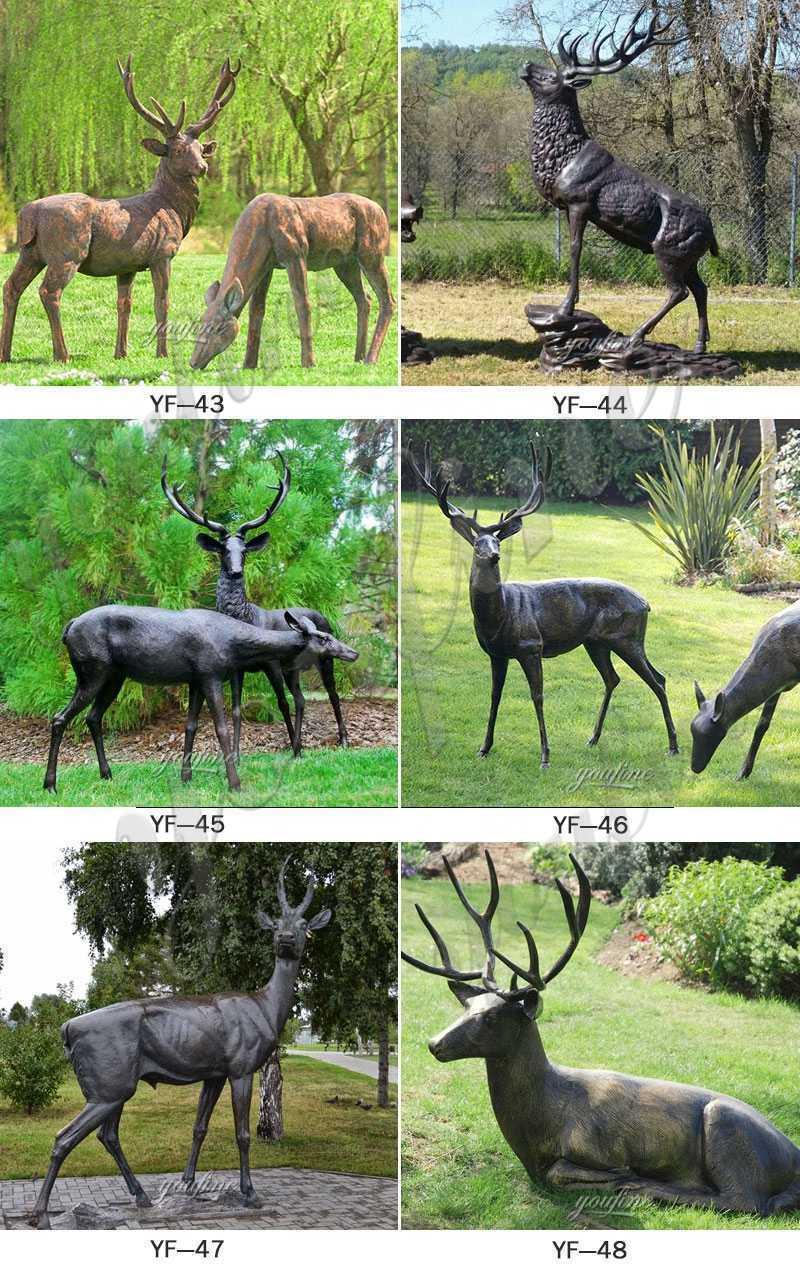 antique bronze stag statue for sale