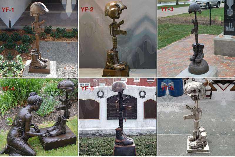 bronze fallen soldier battle cross statue for sale