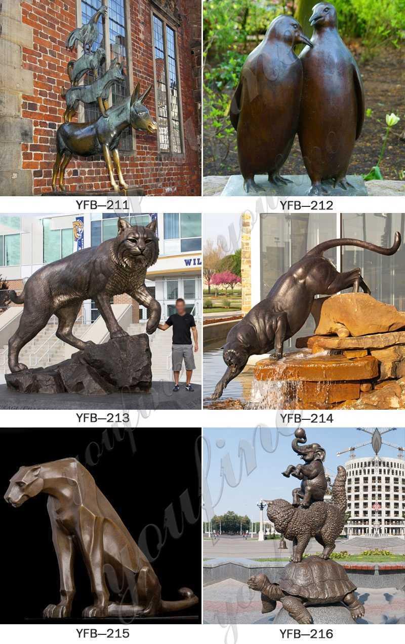 custom made bronze animals statue for sale